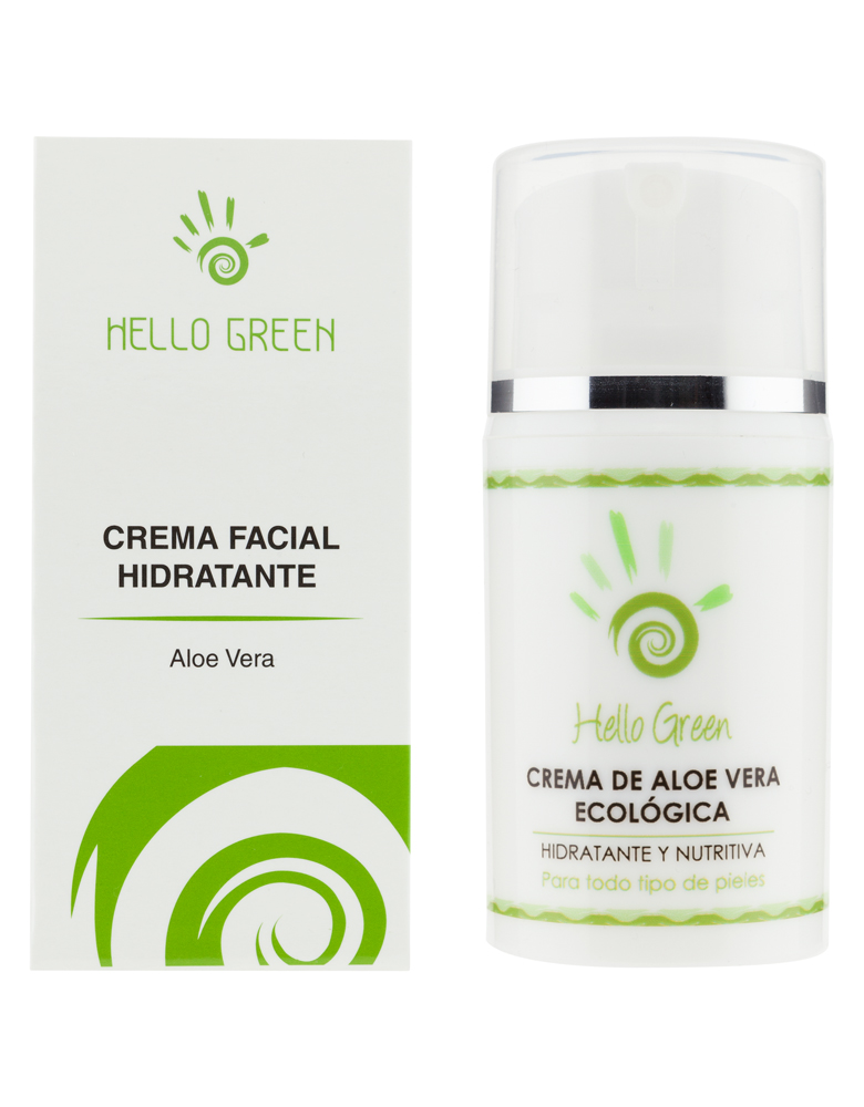 Crema facial de Aloe vera